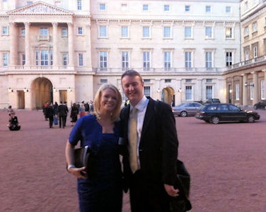 Reception for Young People in the Performing Arts at Buckingham Palace. Pictured with YCAT chief executive Alasdair Tait.