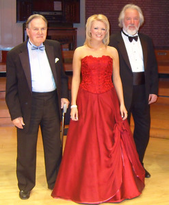 Joyce and Michael Kennedy Award for the singing of Strauss. Pictured with Michael Kennedy CBE and Sir John Tomlinson