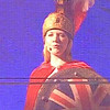 Kathryn performs as Britannia at the Opening of the Liverpool Echo Arena. Liverpool Capital of Culture 2008.