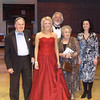 Kathryn receives the Joyce and Michael Kennedy Award for the singing of Strauss. Pictured with Michael Kennedy CBE and Sir John Tomlinson, Joyce Kennedy and Ann Taylor