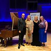Music in Hospitals and Care Concert with Christopher Glynn and Rachel Podger at Royal Northern College of Music, Manchester with Chief Executive Barbara Osborne