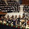 Handel's Messiah Huddersfield Choral Society, Royal Northern Sinfonia, Conductor Tecwyn Evans, Soprano Susanna Andersson, Tenor Ed Lyon and Bass Henry Waddington at Huddersfield Town Hall.